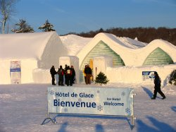 Entrance to Quebec's Ice Hotel