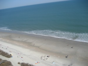 Myrtle Beach from the Anderson Ocean Club Resort balcony