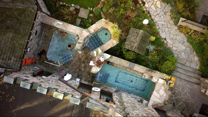 Photo Courtesy of Ste. Anne's Spa : The Grotto from above.